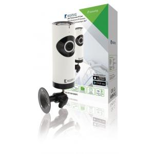 König SAS-IPCAM180W1 Hd Ip-camera 1280x720 Panorama Wit/zwart