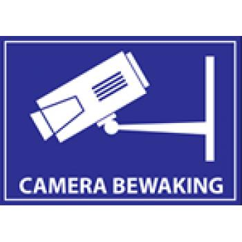 Sticker 'Camera Bewaking'