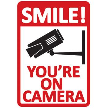 Sticker 'Smile! You're on Camera'